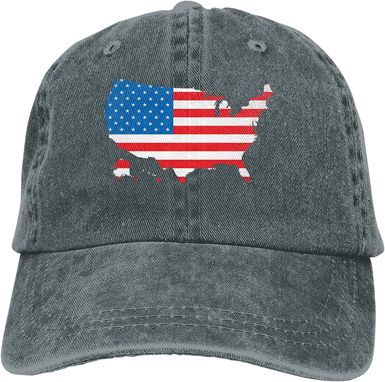 Flag of The United States Baseball Cap Trucker Hat Retro Cowboy Dad Hat Classic Adjustable Sports Cap for Men&Women Deep Heather