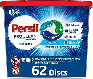 Persil Discs Laundry Detergent Pacs, Original Scent, High Efficiency (HE) Compatible, Laundry Soap, 62 Count
