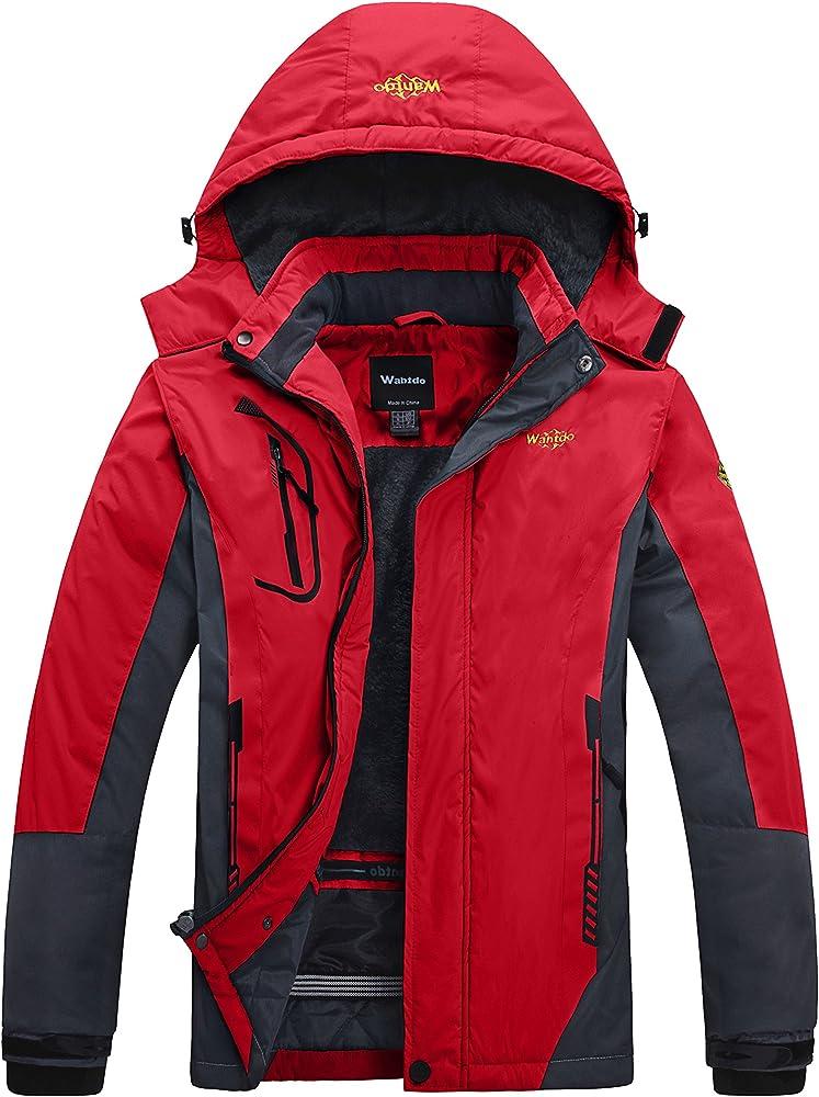 Wantdo,giaccone con cappuccio ,giubbotto antivento idrorepellente per uomo TGZZ3925