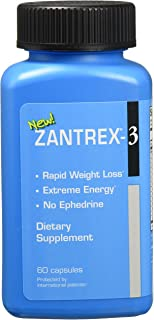 Basic Research Zantrex-3 Supplement, Blue, 120 Count