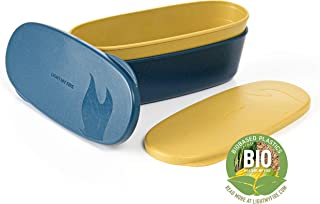 Light My Fire SnapBox Oval Storage Container 2-Pack, One Size, Mustyyellow/Haz