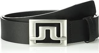 J.Lindeberg Men's Slater 40 Pro Leather Golf Belt, Black