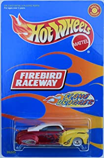 Hot Wheels FIREBIRD RACEWAY FLAME DRAGGER DIE-CAST WITH REAL RIDER TIRES, FLAME DRAGGER HOT ROD COUPE DIE-CAST