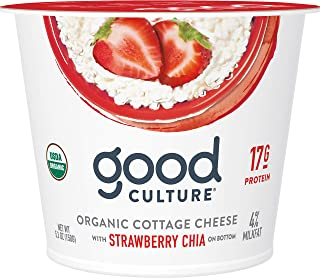 Good Culture Organic Cottage Cheese, Strawberry Chia, 5.3 oz