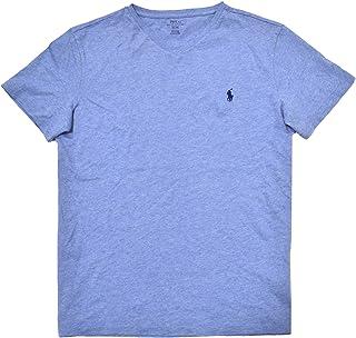 Polo Ralph Lauren Mens V-neck Shirt (M, Jamaica Blue)