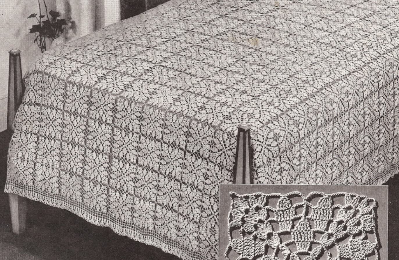 Vintage Crochet Japan Maker New PATTERN to make Bedspread MOTIF BLOCK Traditio OFFicial shop -