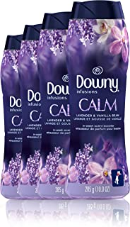 Downy Infusions in-Wash Scent Booster Beads, Calm, Lavender & Vanilla Bean, 10 Ounce, 4 Count