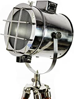 Large Designer's Floor Searchlight Hollywood Spot Lamp | Classic Theatre Stage Light | Decorative Tripod | Nagina Internat...