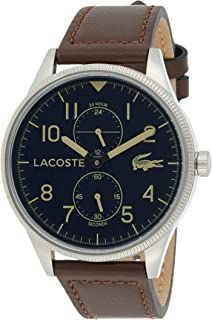 Lacoste Men's Quartz Watch, Analog Display and Leather Strap 2011040