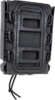 Rifle Soft Shell Scorpion Mag Carrier (BLACK) with Molle Mount Attachment 100% MADE IN USA