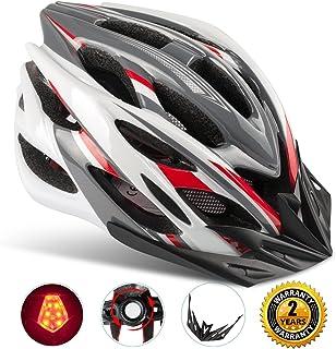 Shinamx Casco Bicicleta con Visera, Protección de Seguridad Ajustable Deporte Ligera para Montar en Bicicleta
