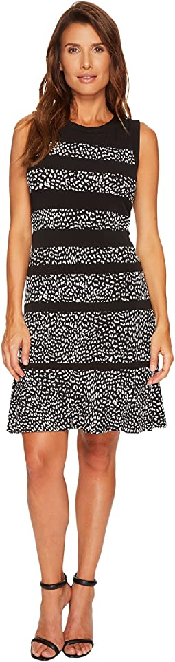 MICHAEL Michael Kors - Cheetah Paneled Sleeveless Dress