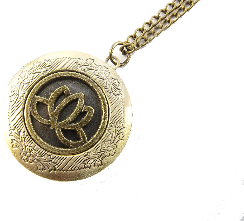 2Pcs Lotus Locket, Lotus Flower Locket Necklace, Jewelry, Yoga, Lotus Locket, Lotus Charm, Layer Necklace