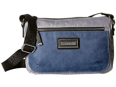 Calvin Klein Belfast Nylon Crossbody (Denim) Cross Body Handbags