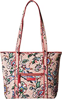 Vera Bradley Iconic Small Vera Tote Stitched Flowers One Size