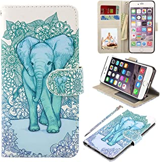 UrSpeedtekLive iPhone 6S Plus Case, iPhone 6 Plus Case, Premium PU Leather Flip Wallet Case Cover with Card Slots Holder & Stand for Apple iPhone 6s Plus/6 Plus, Elephant