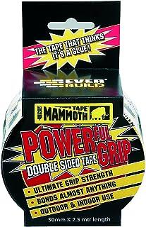 Everbuild Mammoth Krachtig gripband, versterkte dubbelzijdige tape, helder 50 mm x 2,5 m