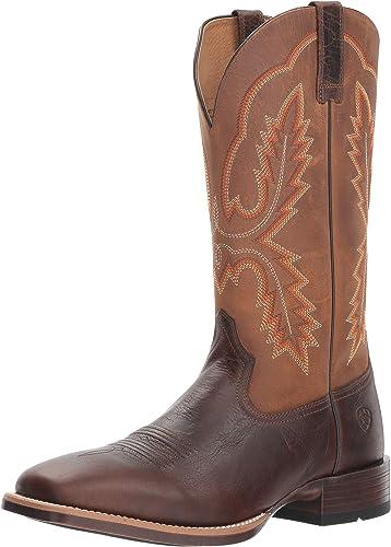 Ariat - Chaussures Pecos Western Western Hommes, 46 W EU, Wicker Distressed marron
