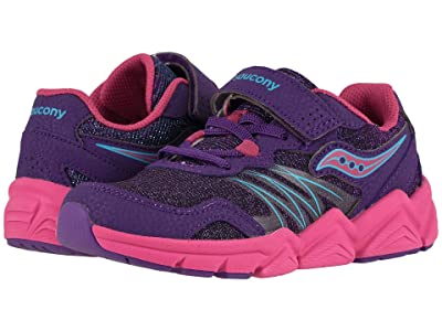 Saucony Kids Flash A/C (Little Kid) (Purple) Girls Shoes