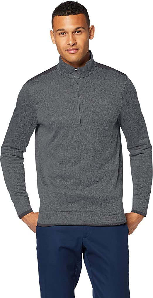 TALLA S-M. Under Armour SweaterFleece 1/2 Zip Media Cremallera. Hombre