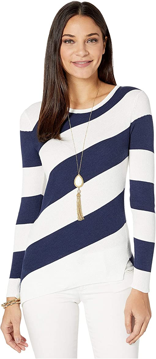 True Navy Party in Paradise Diagonal Stripe