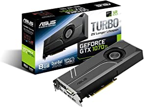 ASUS GeForce GTX 1070 TI 8GB GDDR5 Turbo Edition VR Ready DP HDMI DVI-D Graphics Card (TURBO-GTX1070TI-8G) (Renewed)