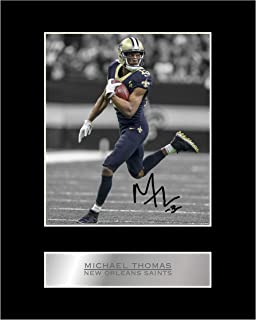 Michael Thomas Signed Mounted Photo Display New Orleans Saints #05 NFL Printed Autograph Gift Picture Print