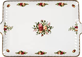Royal Albert Old Country Roses 12.5-inch Fluted Serving Tray -