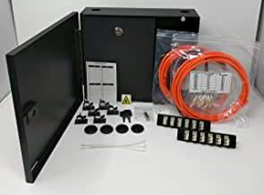 Ultra Spec Cables 2 LGX Panel Lockable Wall Mount Fiber Enclosure Kit, Includes 2 x Loaded OM1 Multimode Duplex LC-UPC LGX Panels and 2 x 3M 12 Strand OM1 LC-UPC Pigtails
