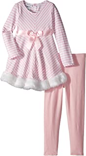 Baby Girls' Chirstmas Knit Dress and Legging Set