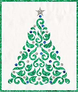 Blue and Silver Applique Christmas Tree 20