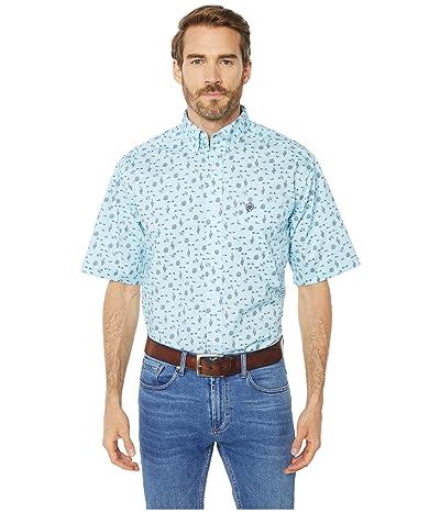 Ariat Norristown Print Shirt (Crystal Blue) Men