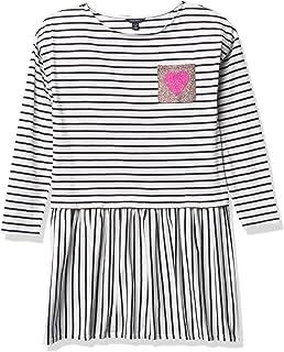 Nautica girls Nautica Girls' Long Sleeve Stripe Dress Casual Dress