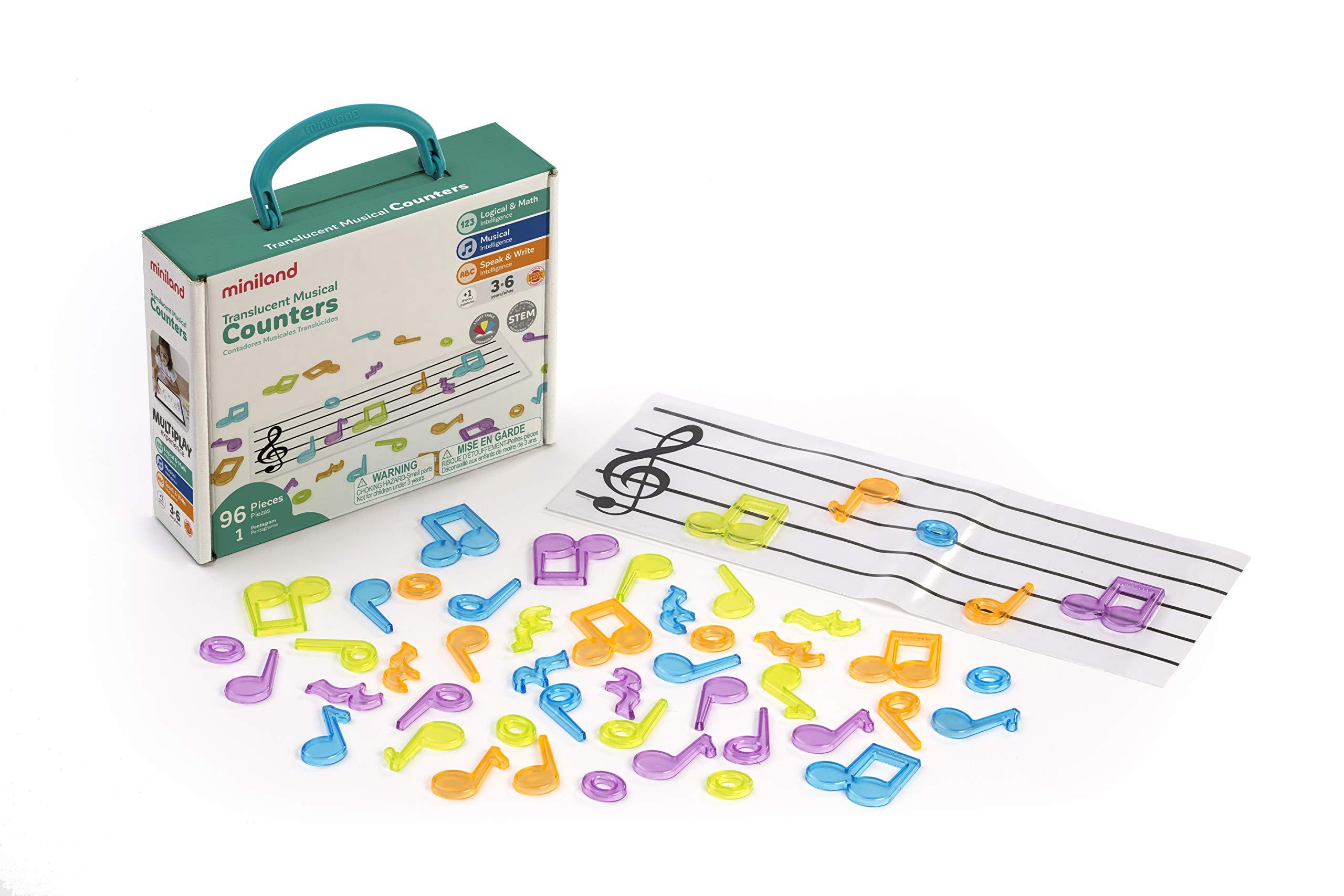 Miniland- Notas Musicales para Mesa de luz (97901): Amazon.es: Juguetes y juegos
