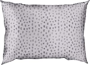 Kitsch Sleep Ritual Collection Mulberry Silk, Standard Size Luxurious Pillowcase for Skin and Hair Care (Lavender Dot)
