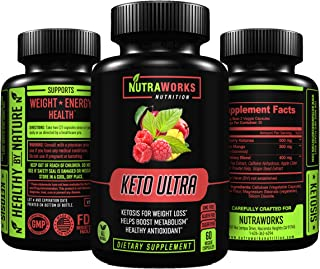 Keto Ultra Diet Pills - Extra Strength Ketogenic Fat Burner for Healthy Weight Loss & Metabolism Support - Raspberry Keton...