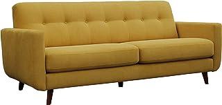 Amazon Brand – Rivet Sloane Mid-Century Modern Sofa with Tufted Back, 79.9W, Yellow