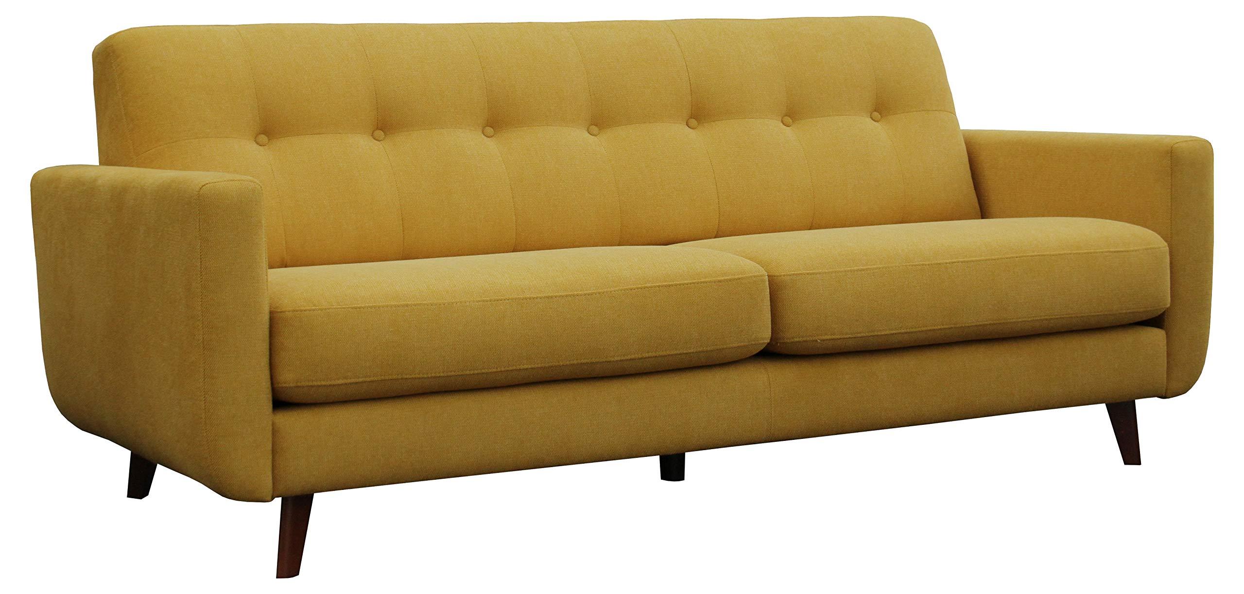 "Amazon Brand – Rivet Sloane Mid-Century Modern Sofa Couch, 79.9""W, Yellow"