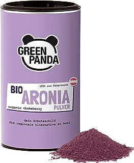 Green Panda® Bio Aronia Pulver aus Österreich, aus getrockneten Aroniabeeren und fein..