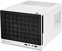 SilverStone Technology Ultra Compact Mini-ITX Computer Case with Mesh Front Panel White & Black (SST-SG13WB-USA)