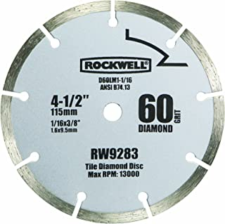 Rockwell RW9283 4 1/2-Inch 60-Grit Diamond Compact Circular Saw Blade