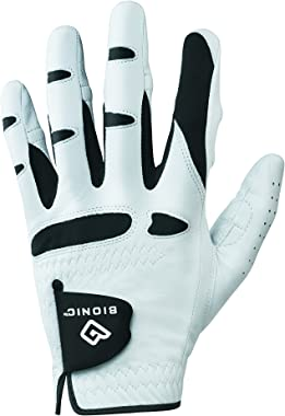 BIONIC Gloves –Men's StableGrip Golf Glove W/Patented Natural Fit Technology Made from Long Lasting, Durable Genuine Cabretta