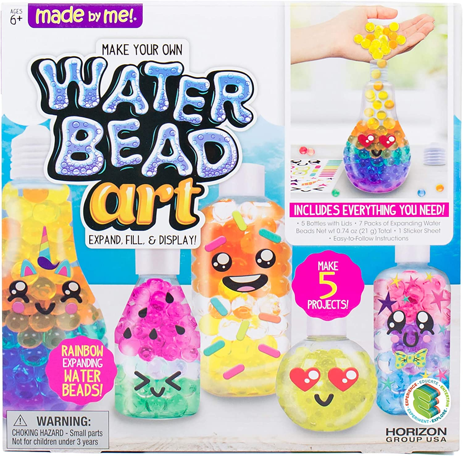 Made By Ranking TOP13 Me Water Bead Art by Horizon USA Ki Toxic Group Super special price Non DIY