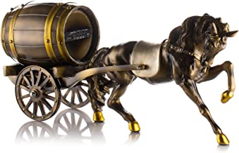 Frisby Decorative Home Decor Sculpture Horse Carriage Statue Rechargeable Speaker w/Bluetooth & USB & miniSD & Remote Control