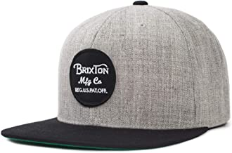 Brixton Men's Wheeler Medium Profile Adjustable Snapback Hat