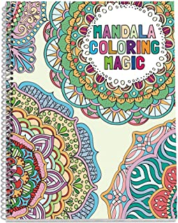 No Name Paper Co. Mandala Adult Coloring Book - 8.5 x 11 inches, Spiral Bound, Stress Relieving, Gift for Sister, Mother, ...