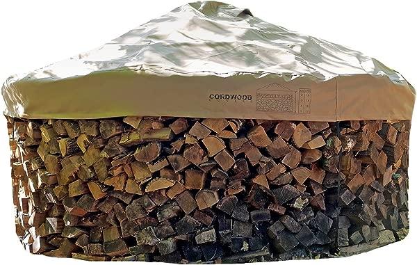 柴火盖和基本商店没有架子的原木包括基本模板和带有集成压紧带的盖子