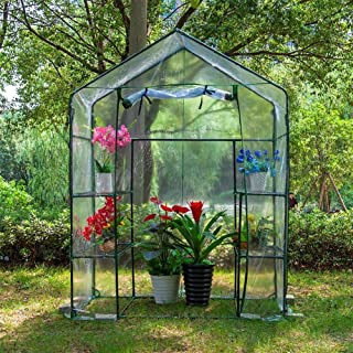 Walk-In Greenhouse, Portable Walk-in Greenhouse Instant Pop-up Fast Setup Indoor Outdoor Plant Gardening Greenhouse Canopy