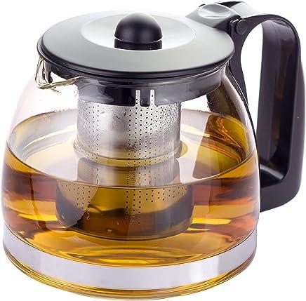 Kaliwaro Teekanne aus Glas mit herausnehmbarem Siebeinsatz Edelstahl Filtereinsatz Sieb preisvergleich bei geschirr-verleih.eu