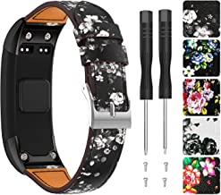 Junboer Vivosmart HR Replacement Bands Adjustable Leather Replacement Wrist Watch Strap Designed for Vivosmart HR Smart Sport Watch(NO for Vivosmart HR+)